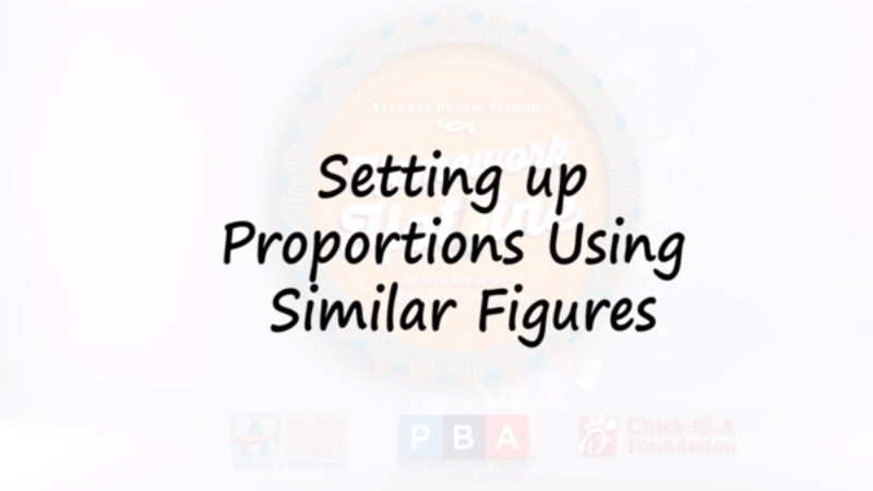 Setting up Proportions Using Similar Figures