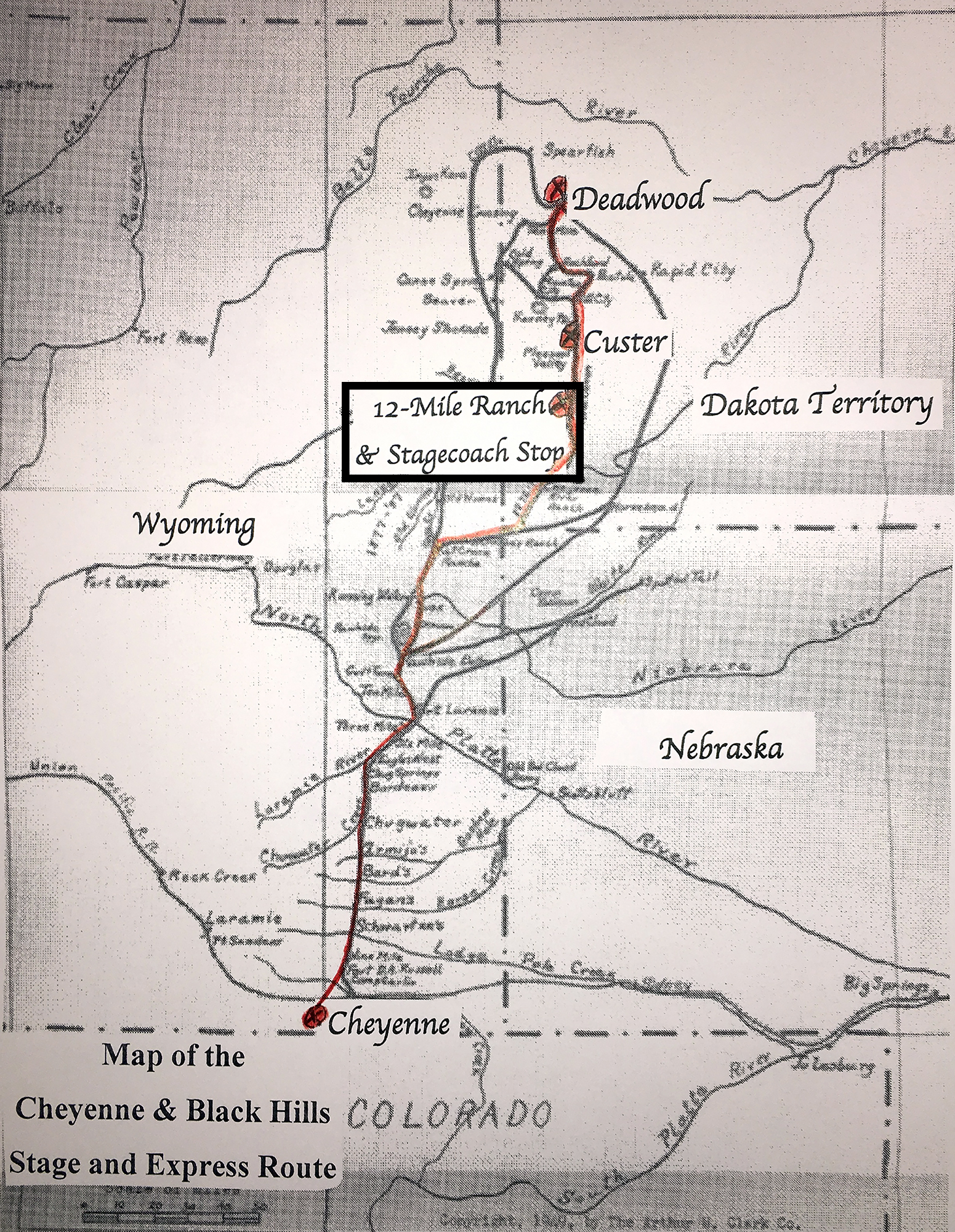 map of stagecoach route