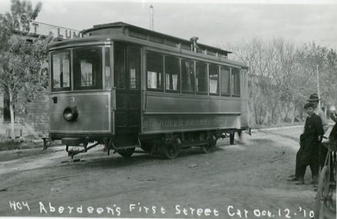 Aberdeen's first street car