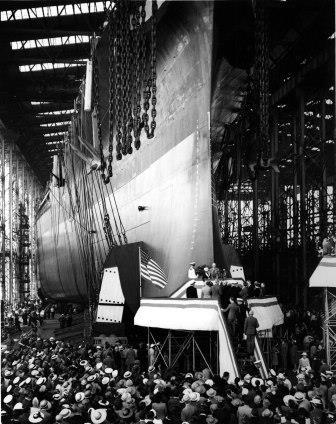 christening of the battleship south dakota