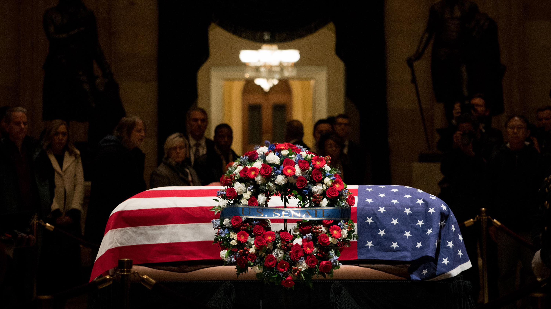 casket of President George H.W. Bush