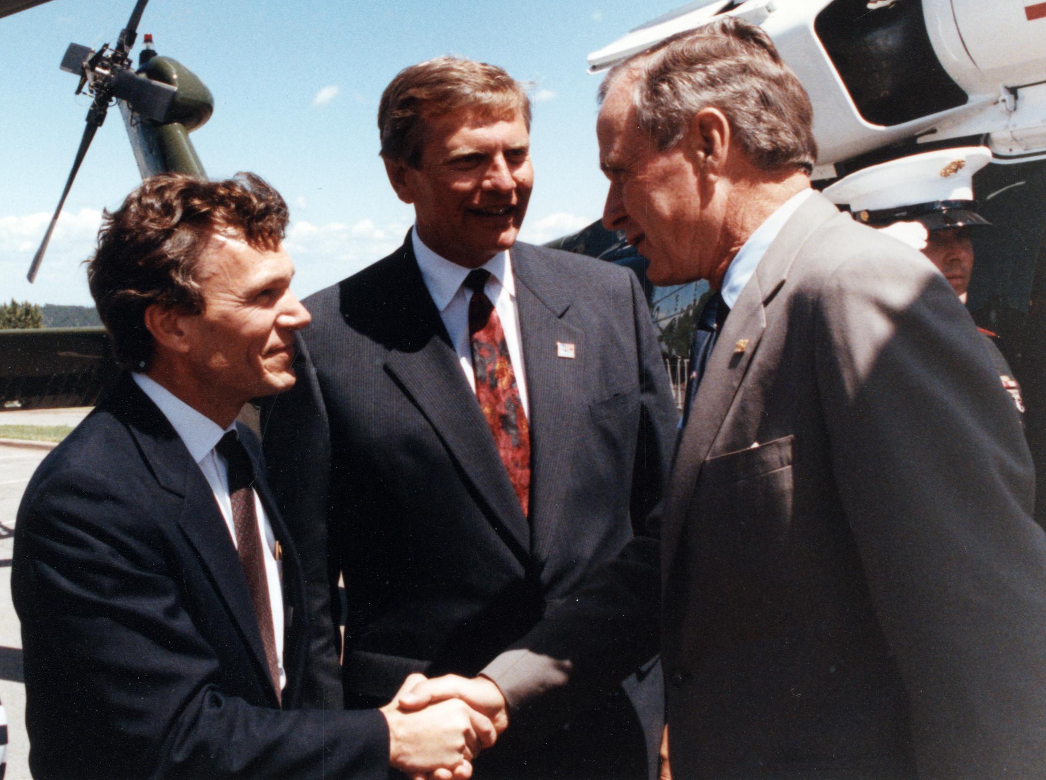 G.H.W. Bush, Tom Daschle, G.S. Mickelson