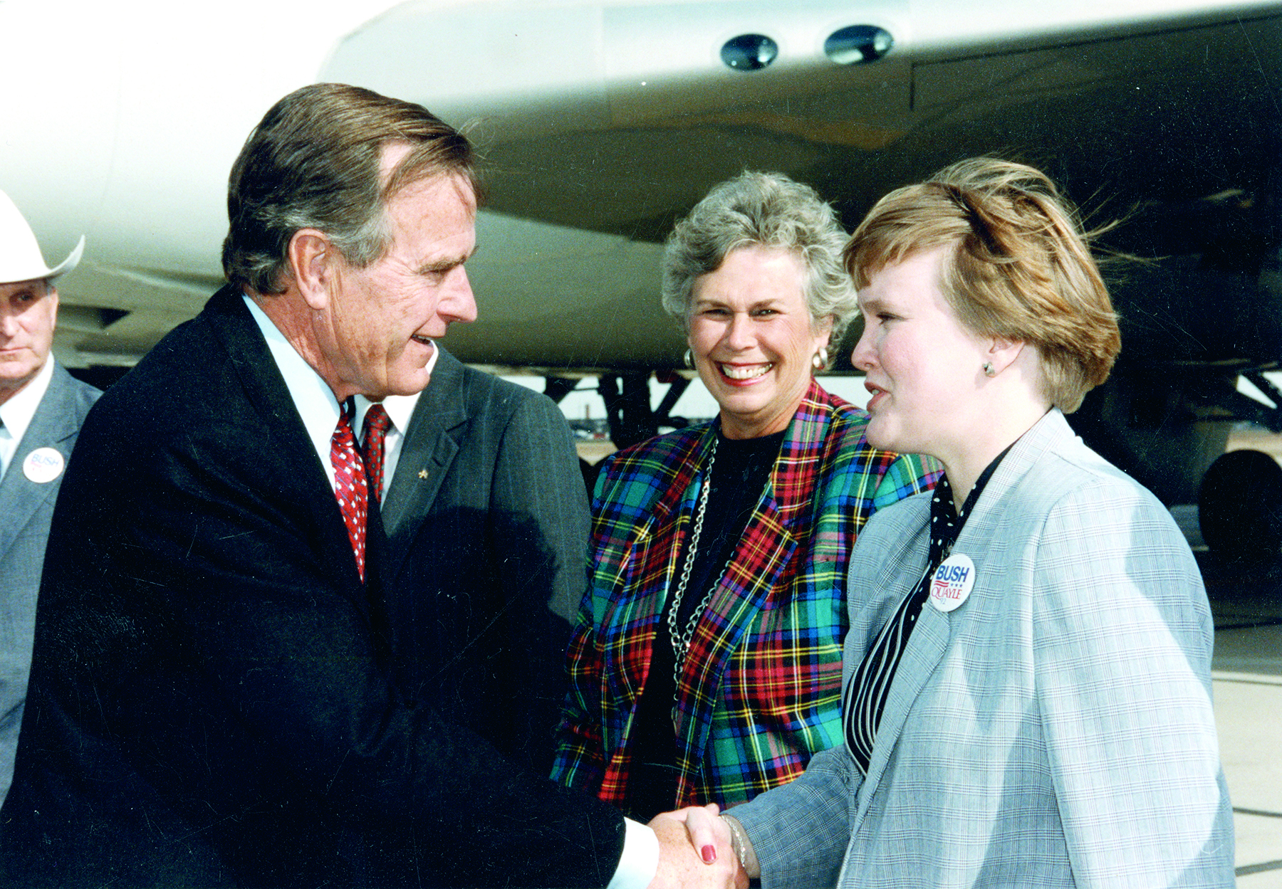George H.W. Bush and Janelle Toman
