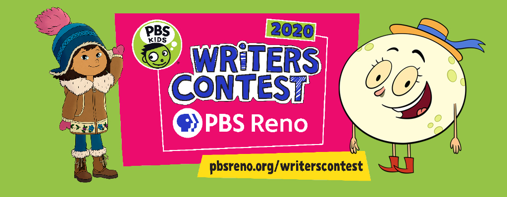 Writers Contest Logo with Molly and Luna