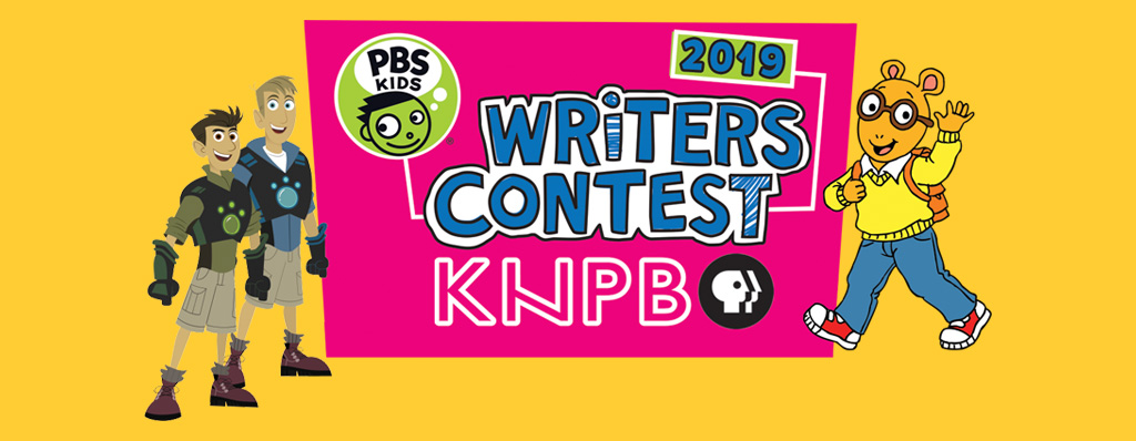 Writers Contest Logo with Arthur and Wild Kratts