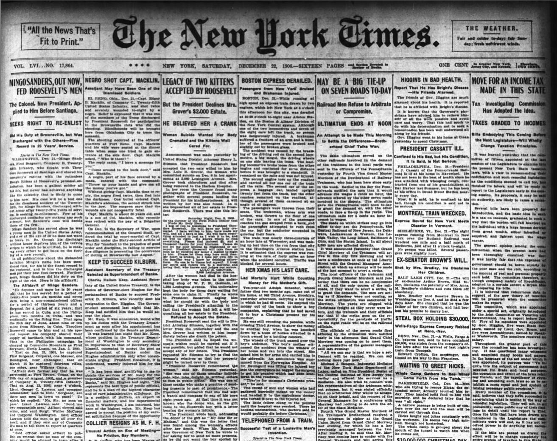 Headline: Mingo Sanders, Out Now, Fed Roosevelt's Men