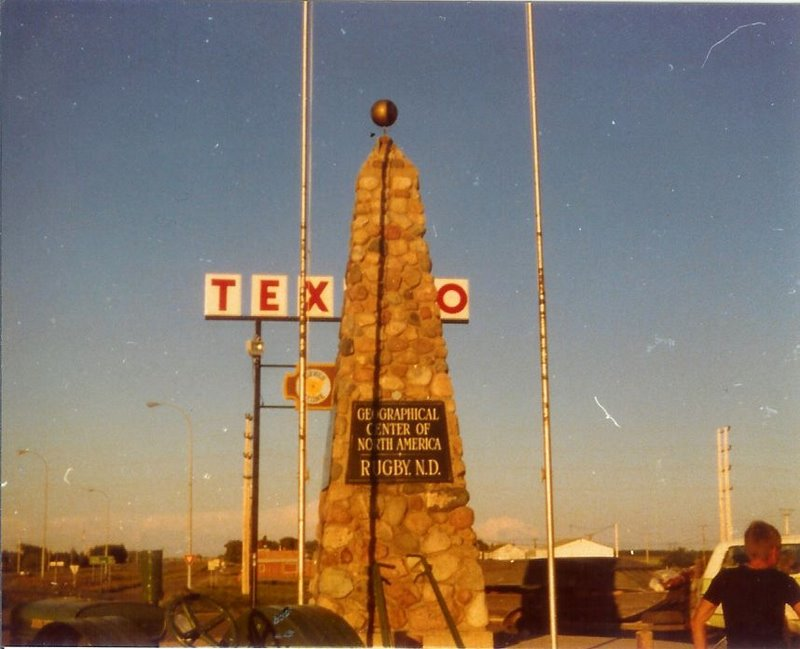 The Rugby monument in 1976.