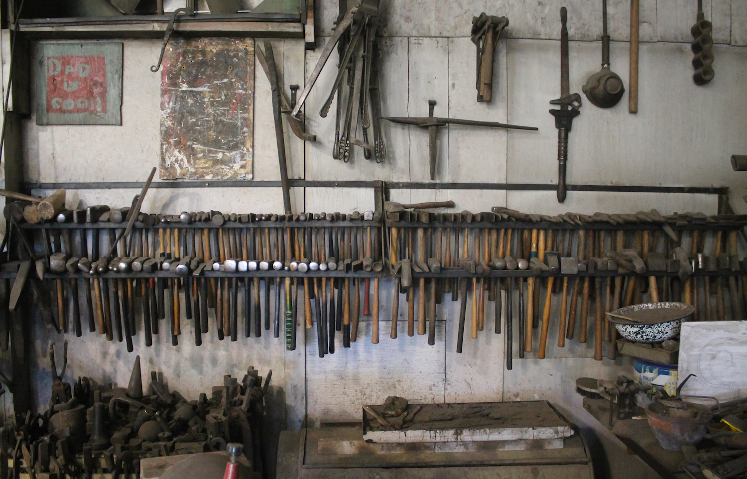 Parks' hammer collection.
