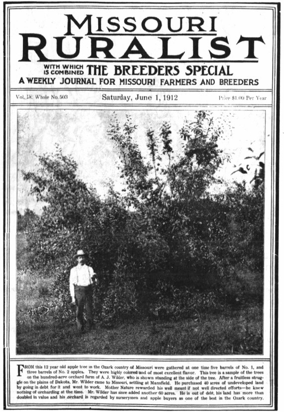 From 1911-1924, Laura Ingalls Wilder wrote a column for the Missouri Ruralist.