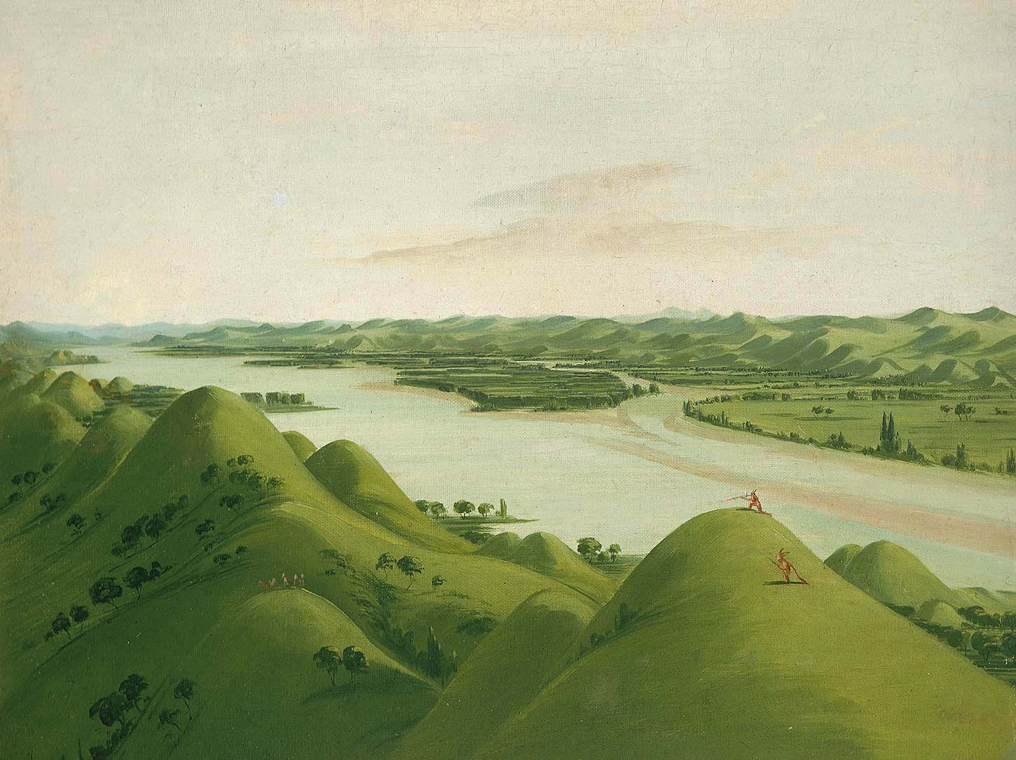 Beautiful Prairie Bluffs above the Poncas, 1050 Miles above St. Louis — George Catlin