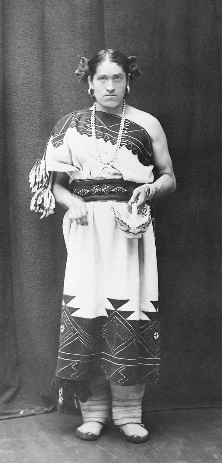 """A photo of We'wha, a Zuni """"berdashe"""" and the focus of Will Roscoe's influential """"The Zuni Man-Woman."""""""