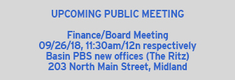 Next Board Meeting 09/26/18