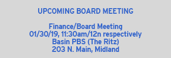 Upcoming Board Meeting - CORRECTION
