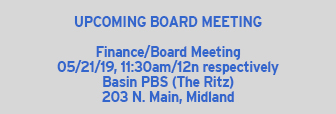 Upcoming Board Meeting