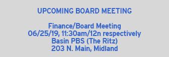 Upcoming Board Meeting