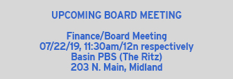 Basin PBS Board Meeting Date