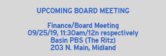 September Board Meeting 9/25