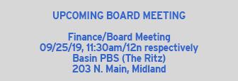 September Board Meeting 9/25