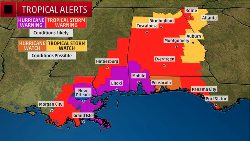 Nate South MS Watches & Warnings Map