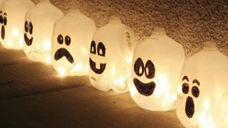 Glowing Ghost Jugs