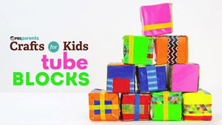 Recycled Craft: Tube Blocks