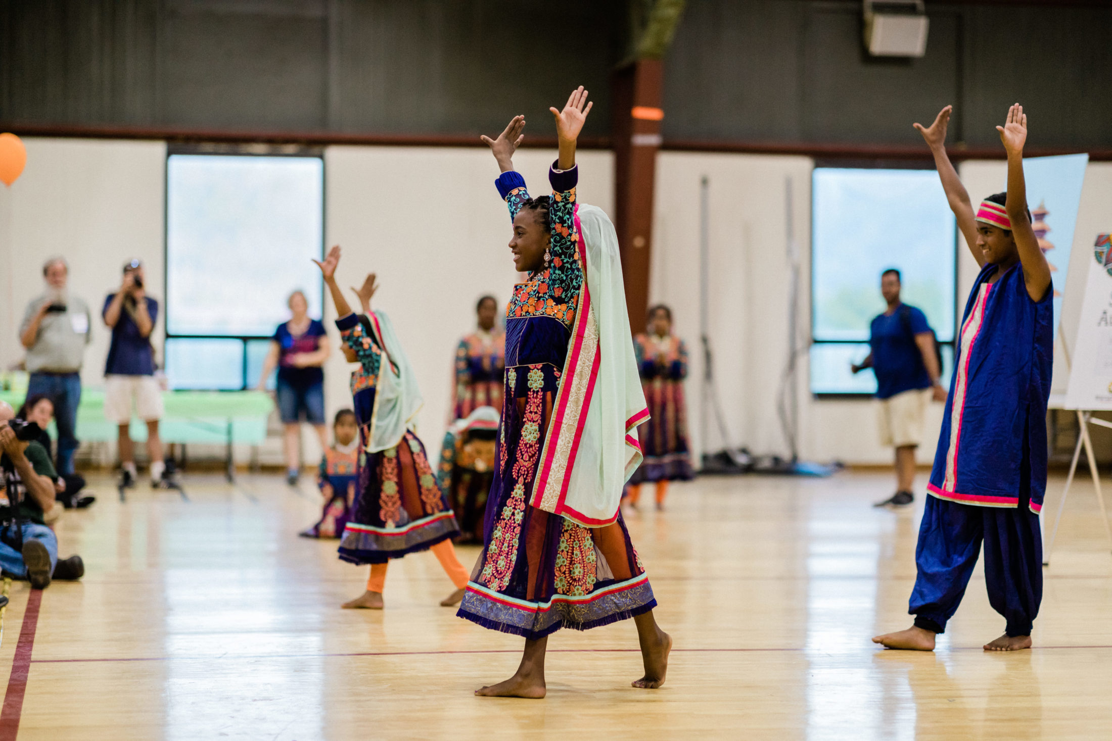 Indian and Nepalese children participate in traditional dance classes.