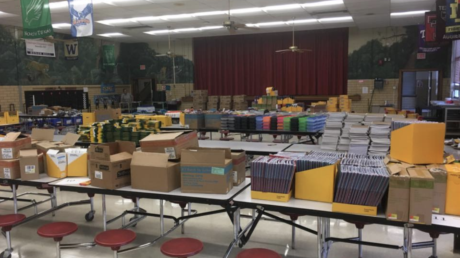 Businesses donate supplies for all Landergin Elementary students