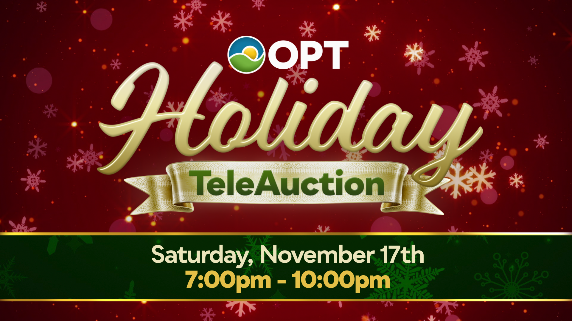 Holiday TeleAuction Sat. Nov. 17th 7-10pm