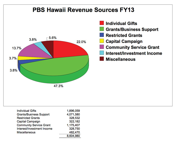 Revenue Sources 2013