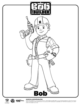 New Bob The Builder Coloring Pages - Worksheet & Coloring Pages
