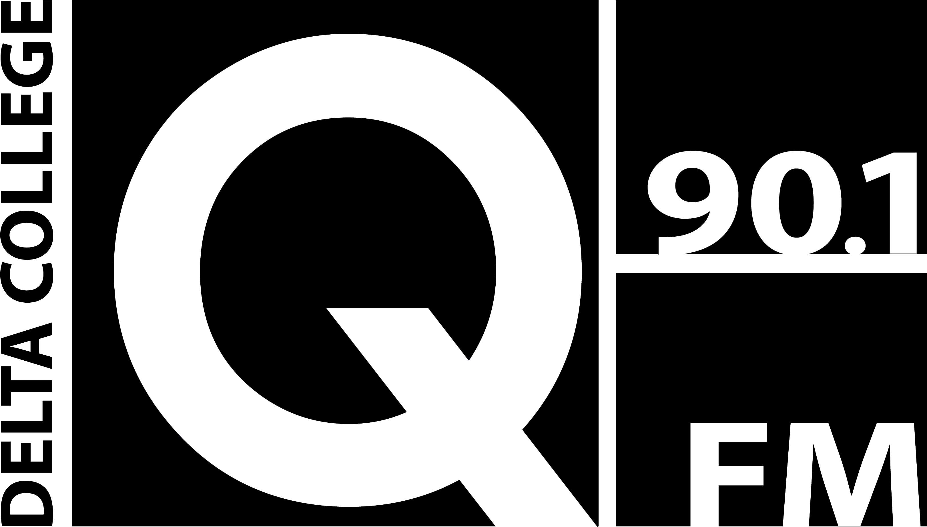 Q-90.1 FM Logo in Black