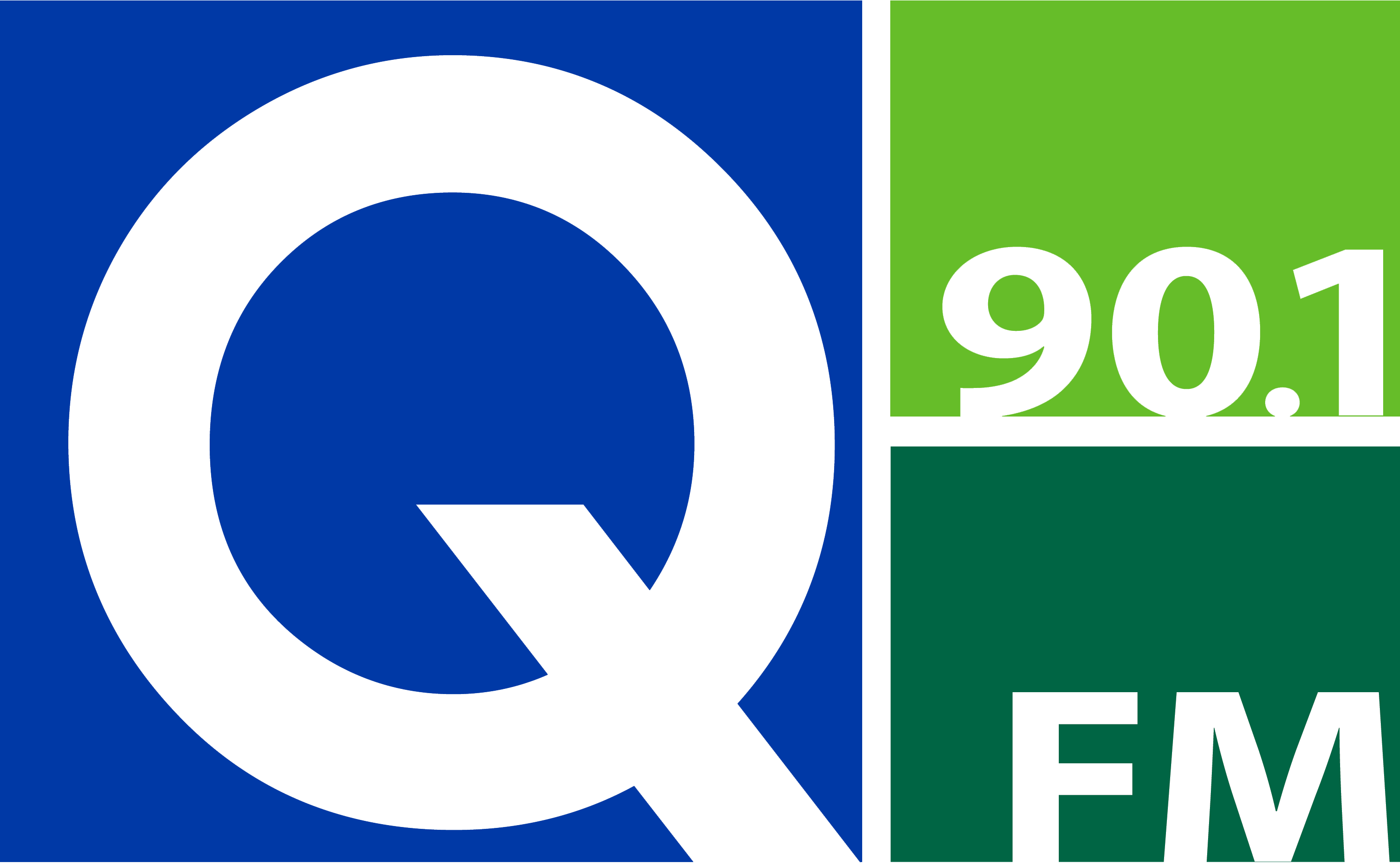 Q-90.1 FM Logo without Delta College Name
