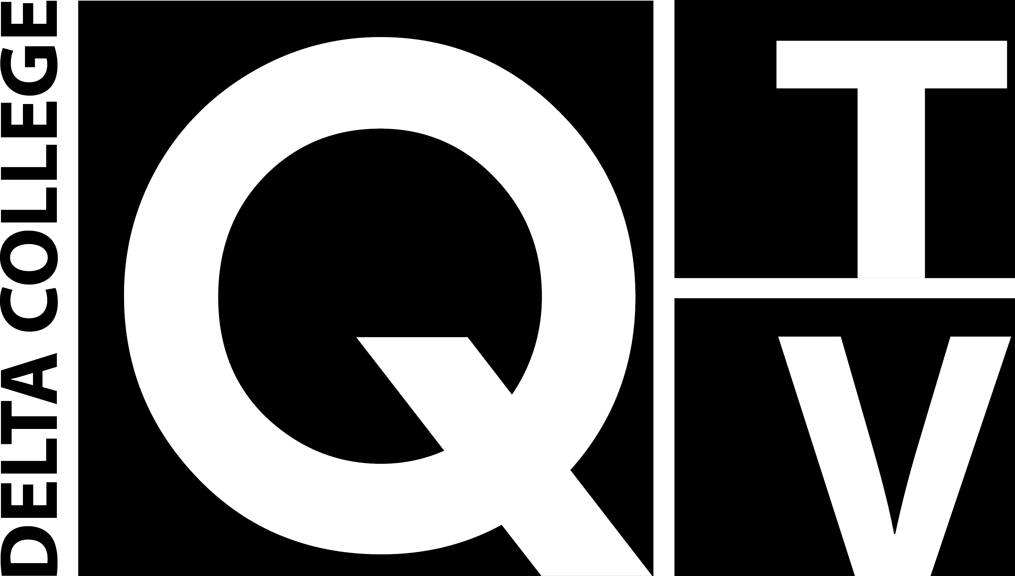 Q-TV Logo in Black