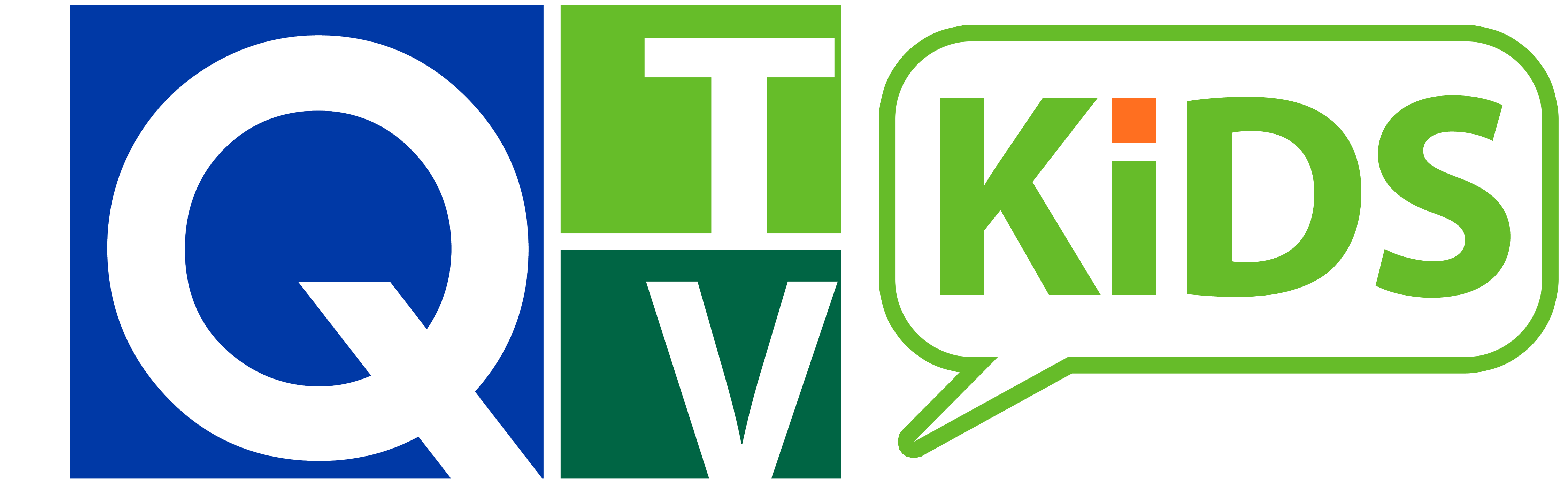 Q-TV Kids Logo with Delta College Name in White