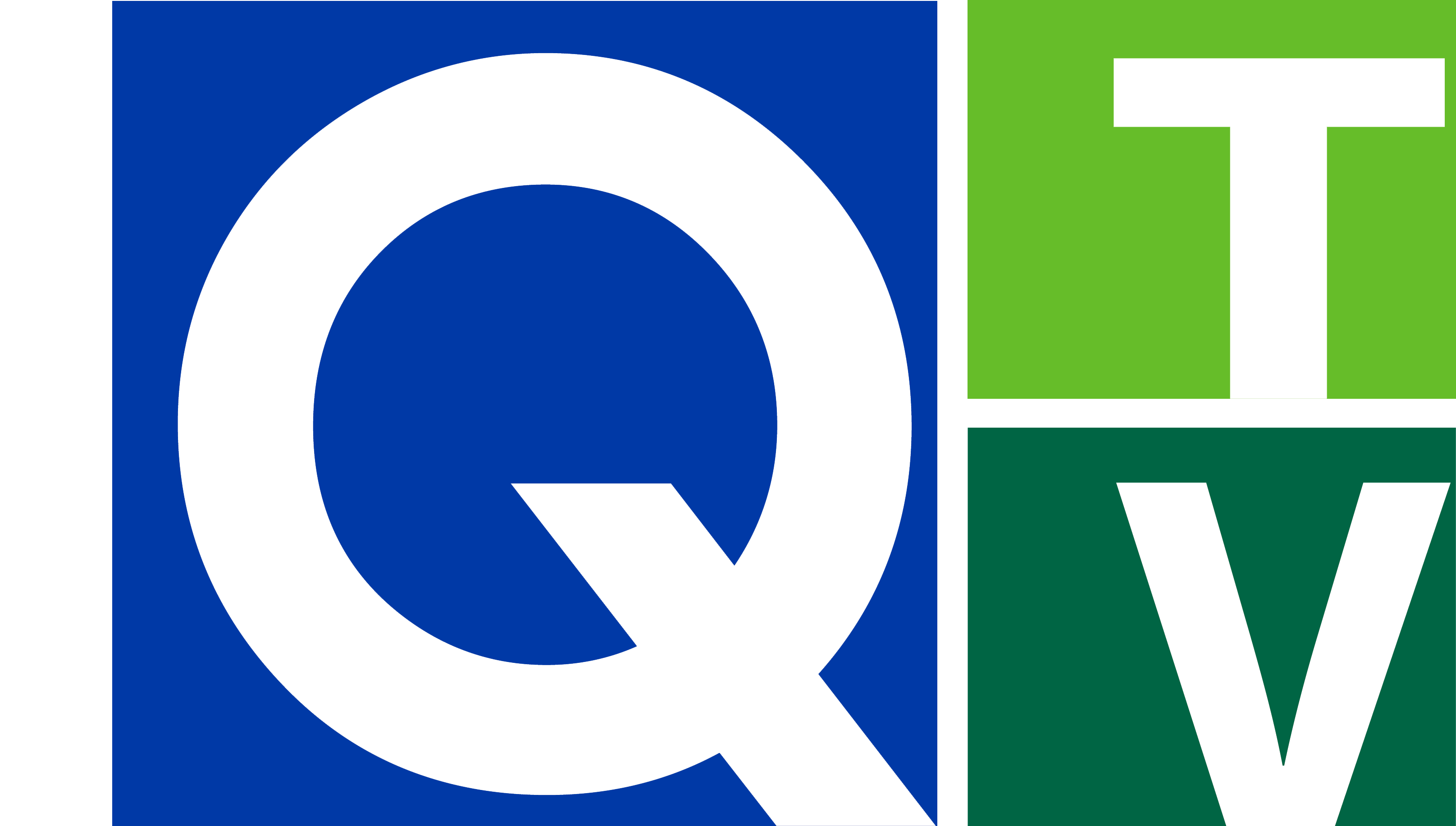 Q-TV Logo with Delta College Name in White