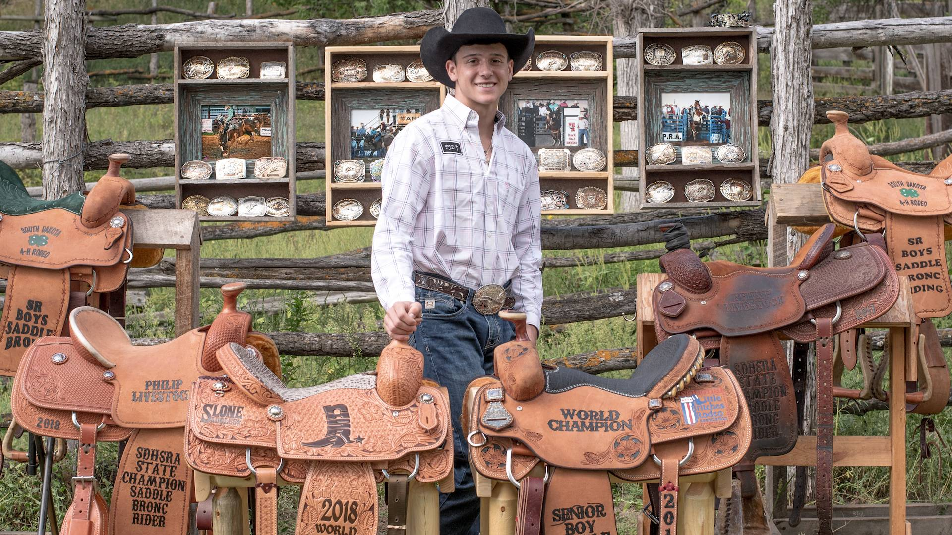 Cash Wilson Wins Third Straight State Saddle Bronc Title