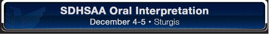 SDHSAA Oral Interpretation Banner
