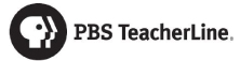 PBS TeacherLine Logo, black and white the PBS P-Head