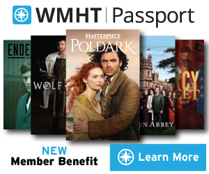 WMHT Passport ad featuring a collection of PBS program cover images