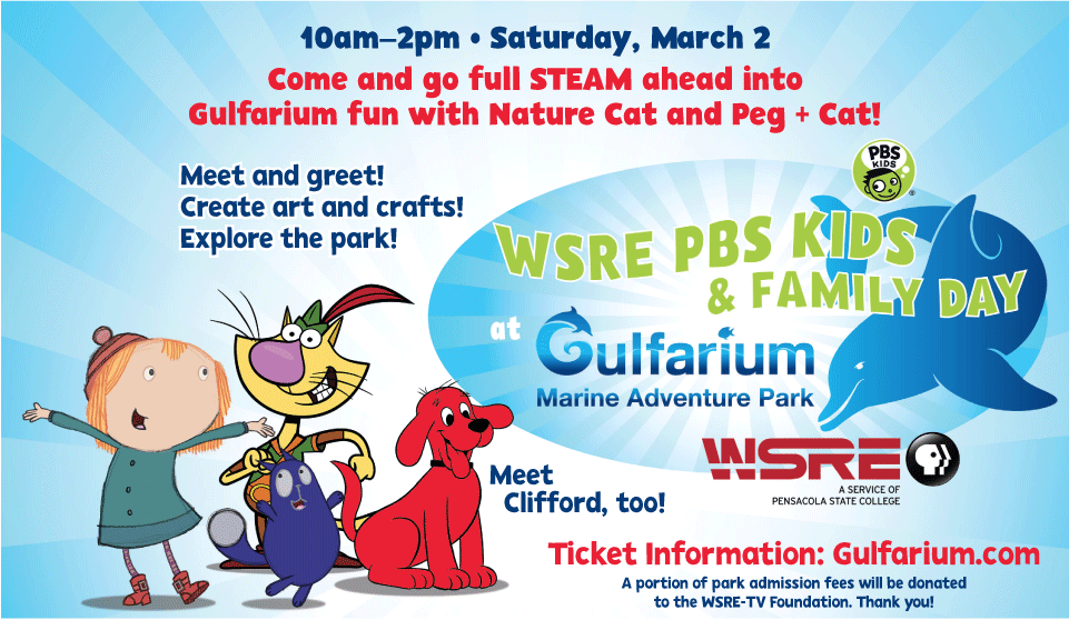 WSRE PBS KIDS & FAMILY DAY Gulfarium Marine Adventure Park