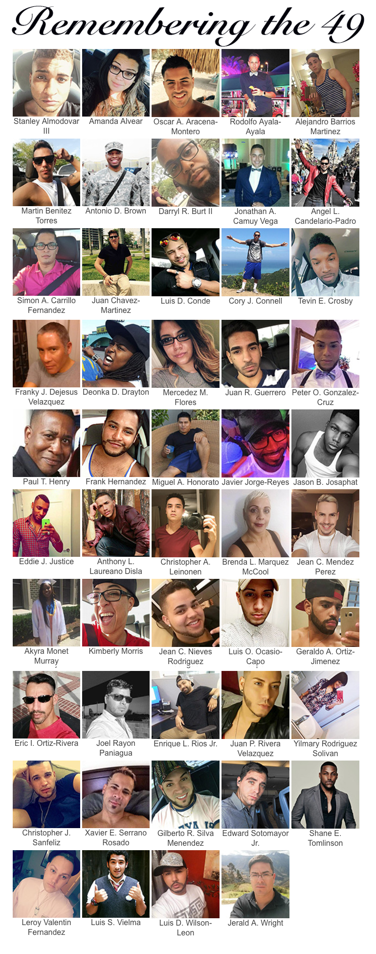 Remembering the 49 Pulse Victims
