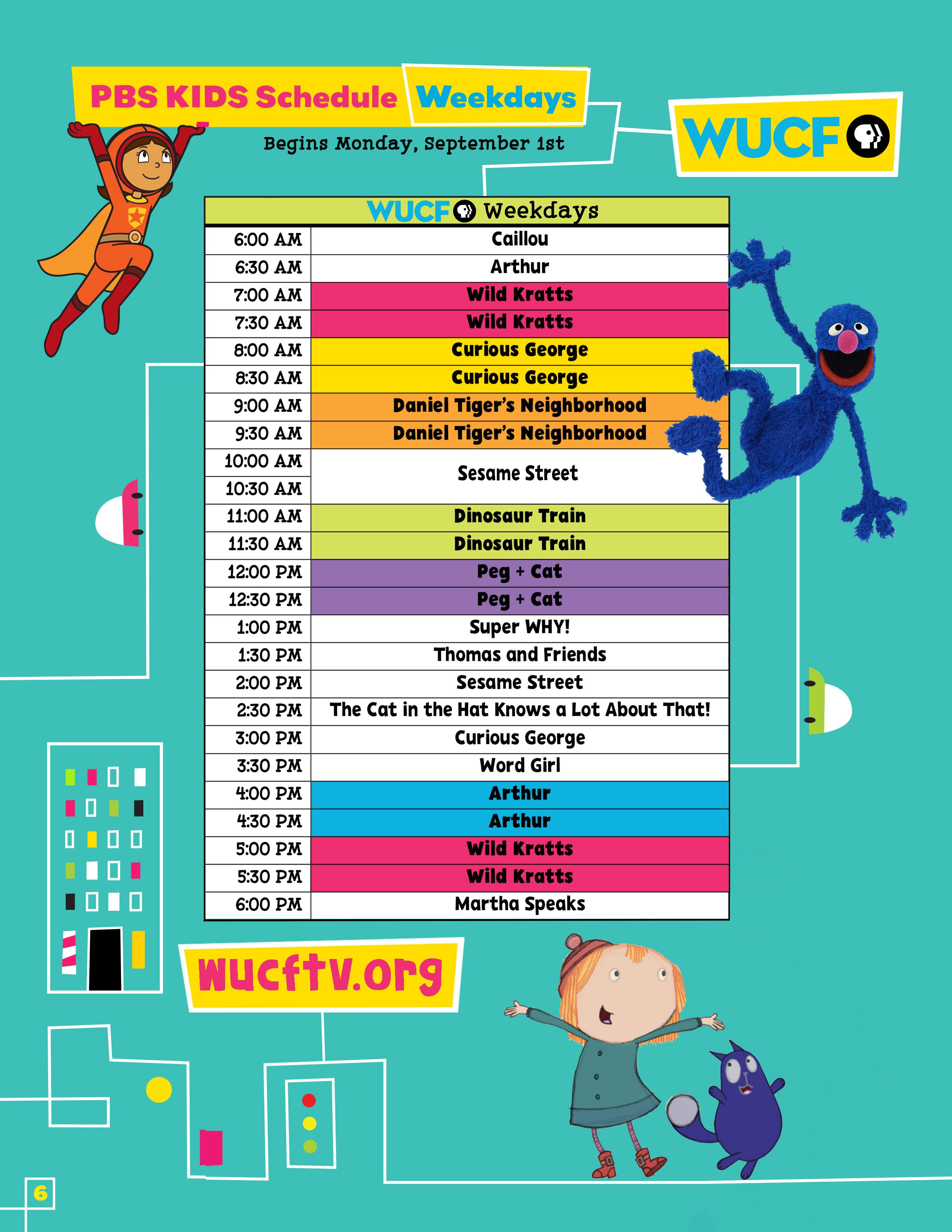 pbs kids tv schedule kids