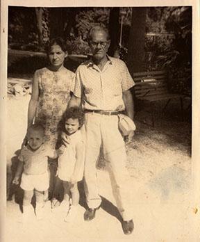 Juan, his sister and parents