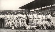 Boston Red Sox at Fenway Park in 1918.