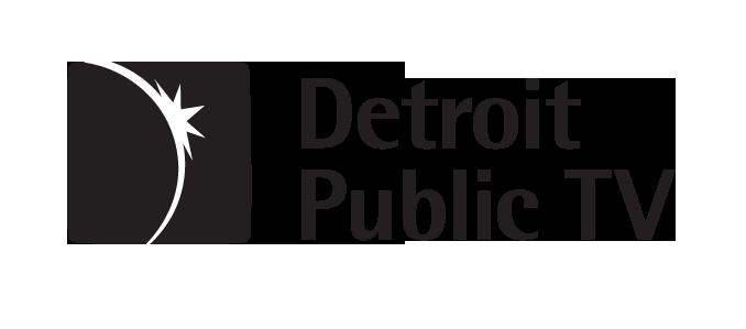 DPTV Horizontal Logo Black & White