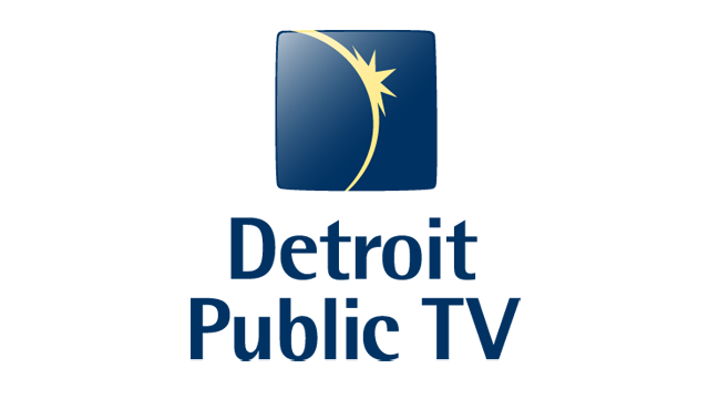 DPTV Vertical Logo Color, Blue