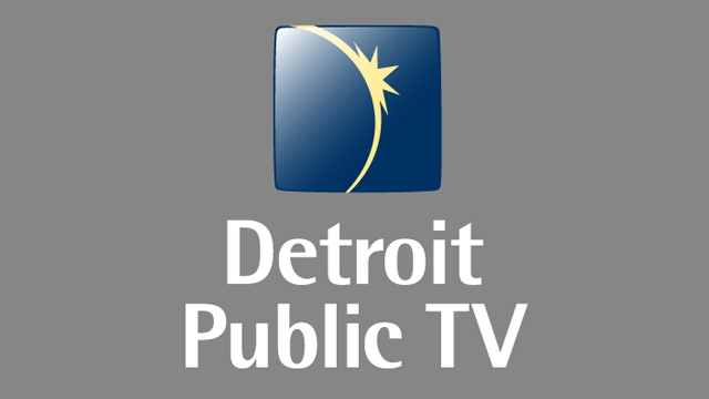 DPTV Vertical Logo Color, White