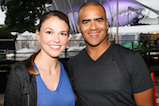 Sutton Foster and Christopher Jackson pose for a photo backstage during <em>A Capitol Fourth</em> concert at the U.S. Capitol, West Lawn, on July 4, 2016 in Washington, DC.