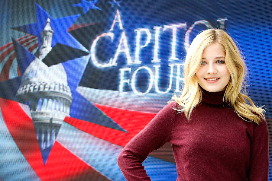 3f1ca5dd14b Jackie Evancho poses for a photo onstage during A Capitol Fourth concert at  the U.S. Capitol