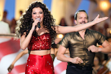 "Singer/dancer Ana Villafañe and cast members of ""ON YOUR FEET! The Musical"" perform at <em>A Capitol Fourth</em> concert at the U.S. Capitol, West Lawn, on July 4, 2016 in Washington, DC."